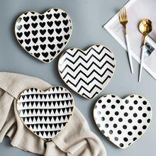 Тарелка в форме сердца керамика домашнее искусственное блюдо