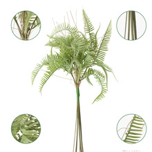 Artificial Lvy Green Leaf 7 Heads Garland Plants Vine Fake Foliage Flowers Home Decor Plastic Flower Rattan String