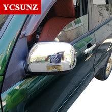Dla Toyota Rav4 akcesoria, że ABS Rav4 drzwi tylna boczna lustrzane osłony obudowa dla Toyota Rav 4 2001 -2005 samoprzylepne Ycsunz