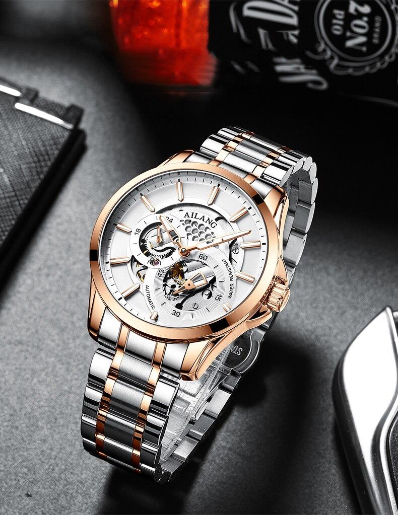 branco dial calendário relógio de negócios atmosfera formal relógio masculino 2007