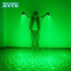 2 In 1 Nieuwe Hoge Kwaliteit Groene Laser Handschoenen Nachtclub Bar Party Dance Zangeres Dans Props Dj Mechanische Handschoenen Led licht