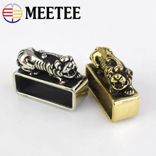 Meetee 1pc 38mm Manual Pure Copper Ring Belt Buckle Metal Brass Loop Meson DIY Crafts Decoration Lesther Accessories ZK2015