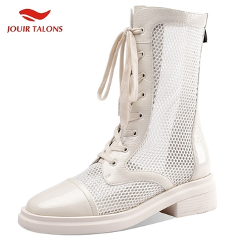 Brand New Ladies Brand Design Med Heels Mixed Color Sole Women Shoes Shoelaces Gladiator Summer Woman Boots