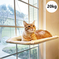 Pet Hanging Beds Cute Cat Hammock Sunny Seat Window Mount Pet Comfortable Pet Bed For Cats Mat Shelf Seat Bed Bearing 20kg