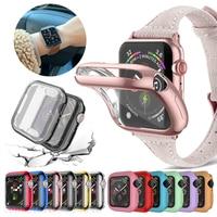 Funda para reloj Apple Watch Series 6 Se, funda protectora delgada de TPU de 40mm y 44mm para IWatch 5 4 3 2 42mm 38mm