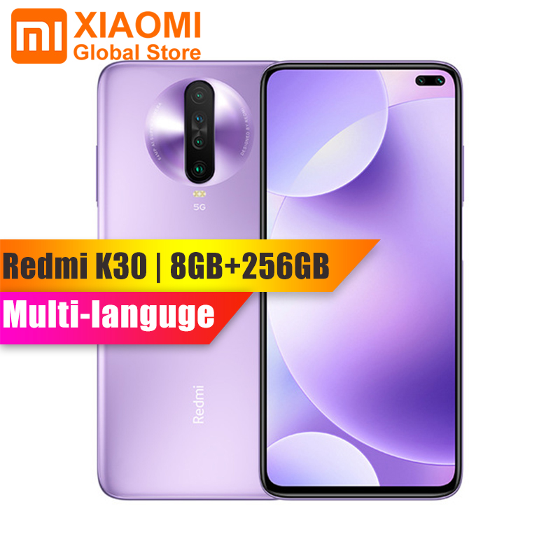 Global Rom Xiaomi Redmi K30 8GB RAM 256GB ROM Smartphone Snapdragon 730G Octa Core 64MP Quad Camera 4500mAh 27W Fast Charging