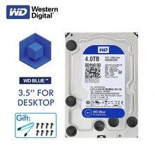 WD الغربية الرقمية الأزرق كمبيوتر مكتبي HDD 4 تيرا بايت 5400 دورة في الدقيقة 3.5 SATA 6 جيجابايت/ثانية الداخلية 4 تيرا بايت 64 ميجا ذاكرة التخزين المؤقت قرص صلب ديسكو دورو