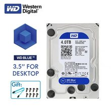 WD Western Digital Blue Desktop Computer HDD 4TB 5400RPM 3.5  SATA 6Gb/s Internal 4 TB 64MB Cache Hard Drive Disk Disco Duro