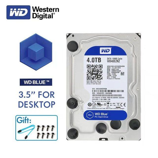 WD Western Digital Blue Desktop Computer HDD 4TB 5400RPM 3.5  SATA 6Gb/s Internal 4 TB 64MB Cache Hard Drive Disk Disco Duro