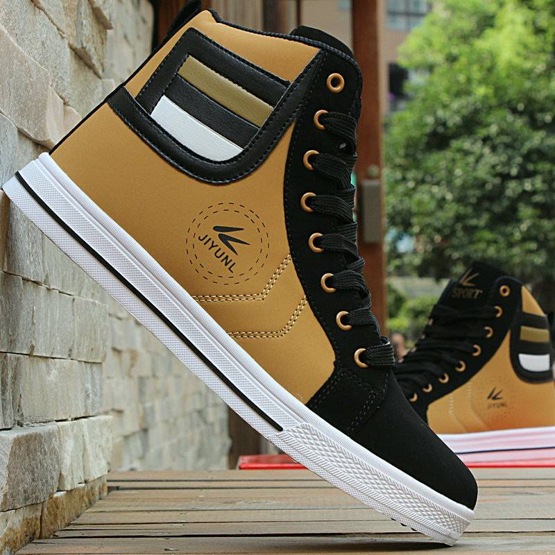 Shoes Men Winter Men's Casual Shoes 39Flat Shoes High-top Canvas Walking Shoes Keep Warm Lace-up Breathable  High Top Sneakers