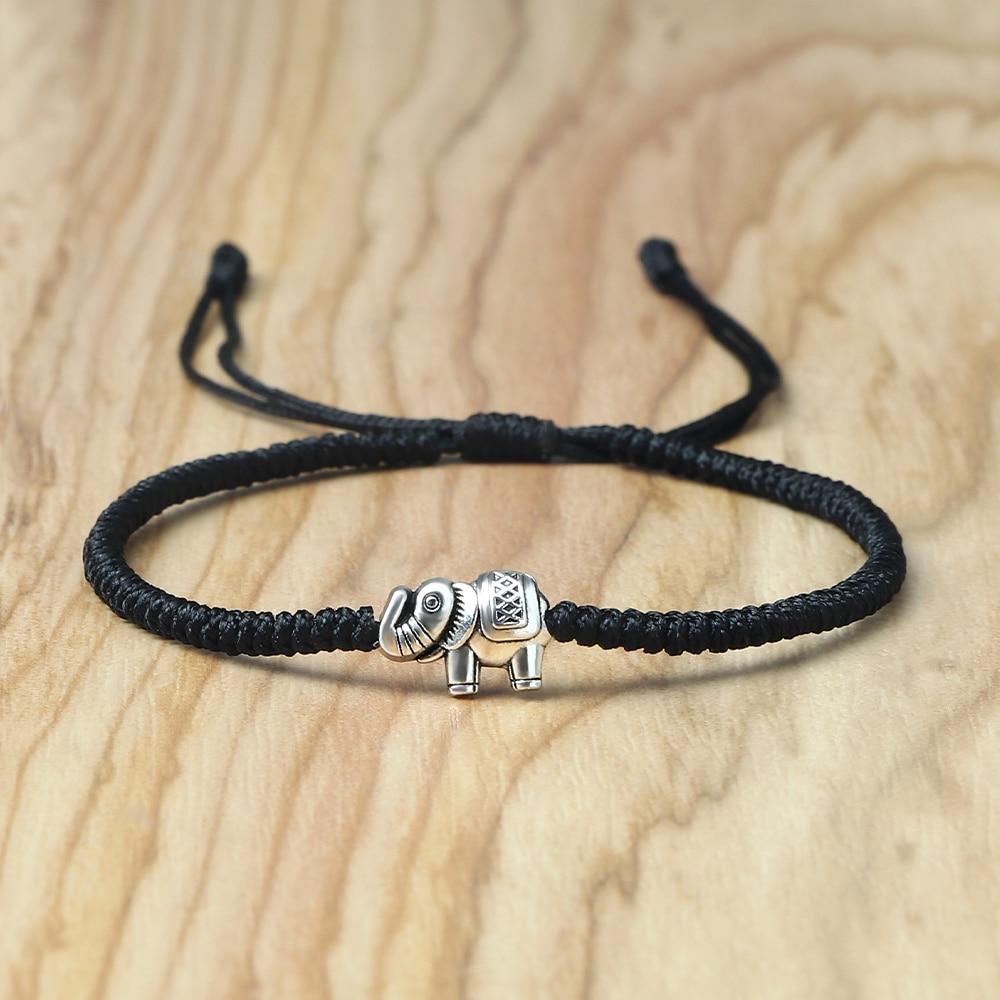 Ретро браслеты со слоном Lucky Плетеный Браслет-цепочка для женщин и мужчин, удачи дружба личный подарок ювелирные изделия ручной регулировко...