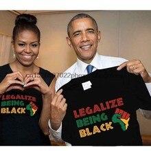 Legalize ser preto vidas matter men camiseta S-5XL preto
