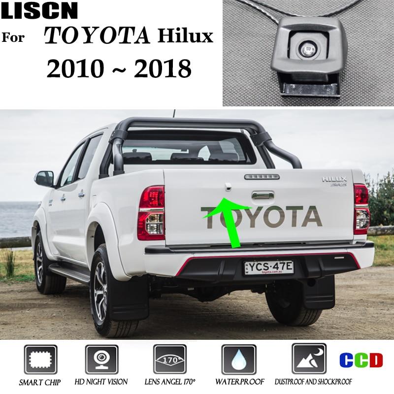 Камера заднего вида для Toyota Hilux AN120 AN130, 2010, 2011, 2012, 2013, 2014, 2015, 2016, 2017, 2018, OEM, оригинальная камера заднего вида с отверстием