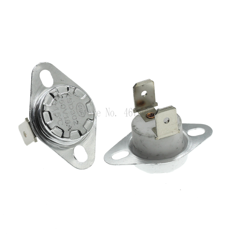 1 шт. KSD302 16A 250V 40 130 градусов Керамика KSD301 нормально закрытый Температура переключатель Термостат 45 55 60 65 70 75 80 85|Выключатели|   | АлиЭкспресс