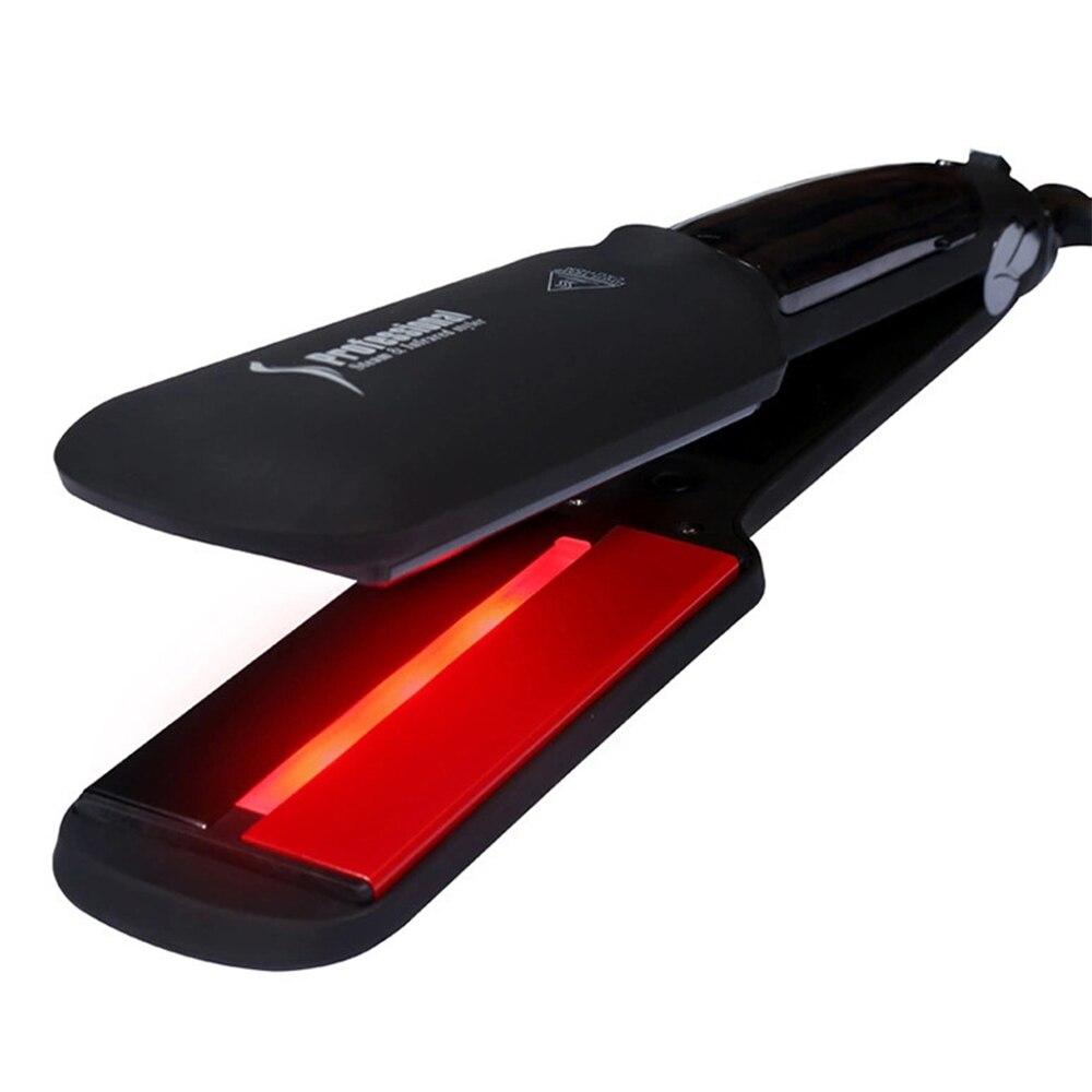 Professional Hair Straightener Infrared Steam Hair Straightener Ceramic Vapor Fast Heating Flat Iron Salon Steampod Iron