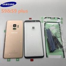 Originele Samsung Galaxy S9 G960 S9 plus G965 Terug Glas Cover Rear Batterij Cover Deur met Camera lens + Touch screen Voor Glas