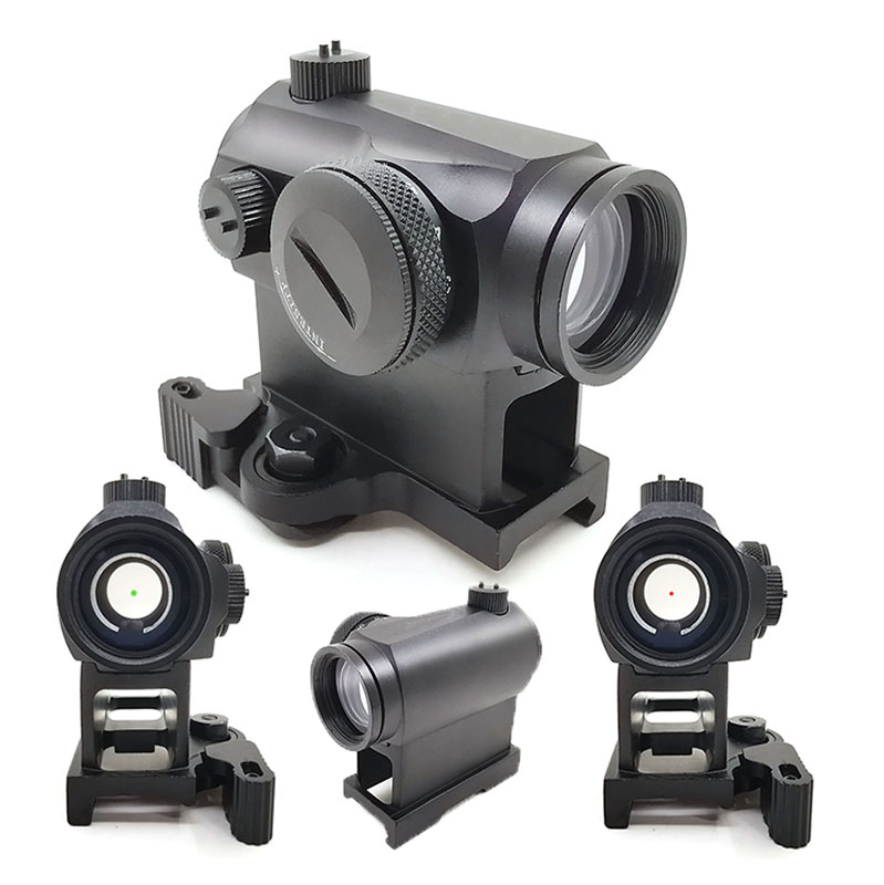 Tactical Hunting QD 1X24 Reflex Red&Green Dot Scope Sight With Quick Riser Mount Quick Detach Holographic
