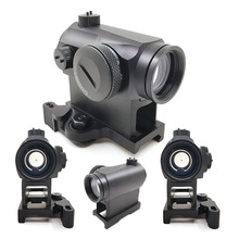 Tactical Hunting QD 1X24 Reflex Red&Green Dot Scope Sight With Quick Riser Mount