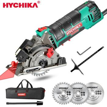HYCHIKA 500W Electric Mini Circular Saw With Laser 120V 220V Multifunctional Electric Saw DIY Power Tool For Cut Wood,PVC tube 1