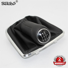 цена на For VW Polo 6R Sedan 2011 2012 2013 2014 2015 2016 2017 Car-Stying 6 Speed Gear Stick Gear Shift Knob Lever Leather Boot