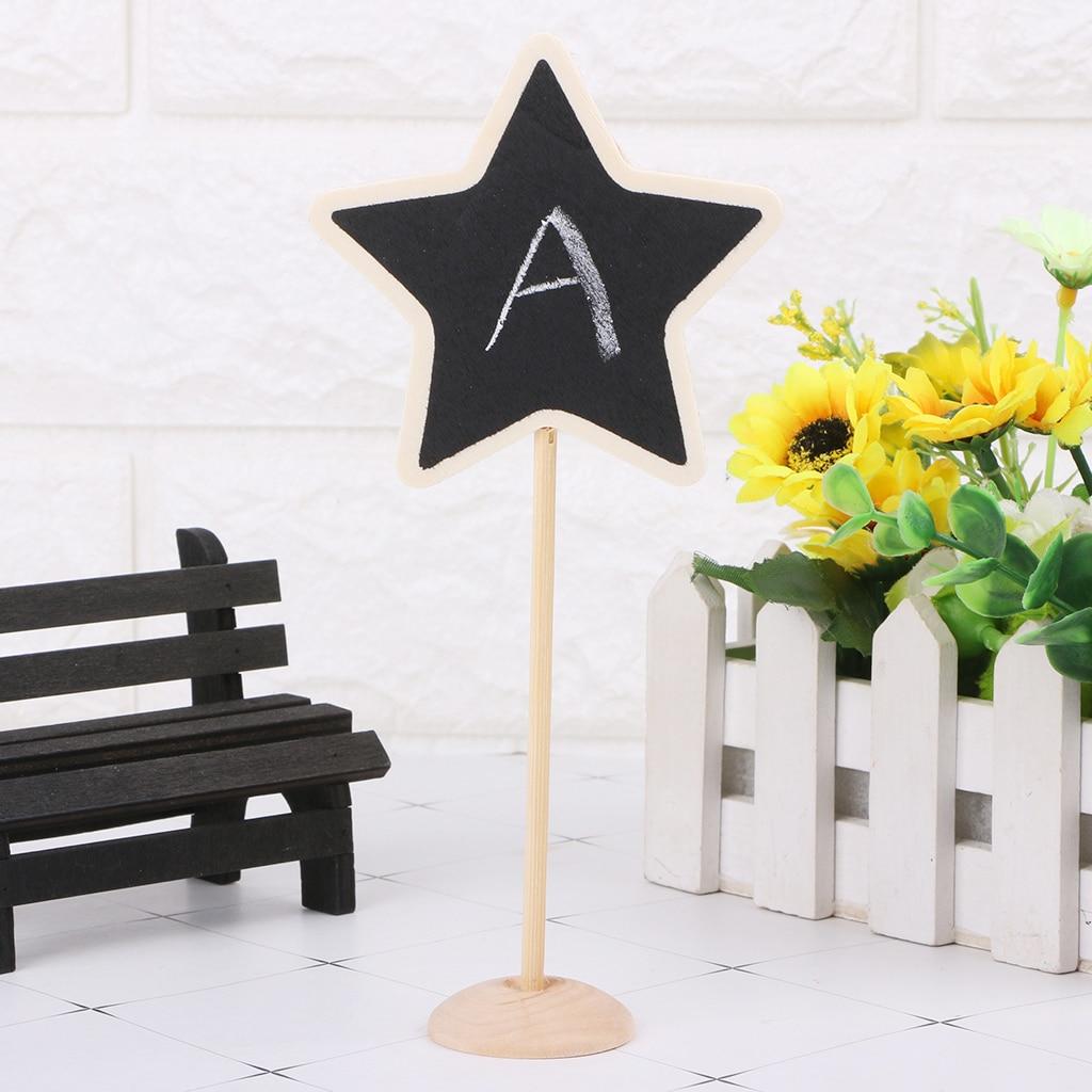 Mini Wooden Chalkboard Blackboard Message Table Number Wedding Party Decor