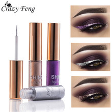 Brand Glitter Liquid Eyeliner Eyeshadow Waterproof Long Lasting Shimmer Eyeliner Easy to Wear 5 Colors Makeup  Eye Liner