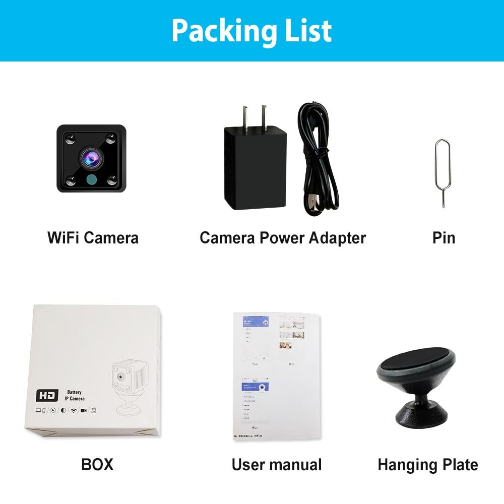 Image 2 - Mini Camera HD 1080P Sensor Night Vision Camcorder Indoor Micro Camera DC 5v Powered Video Surveillance Camera-in Surveillance Cameras from Security & Protection