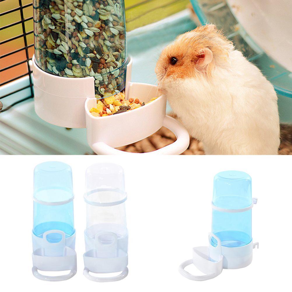 Bird Feeder Transparent Automatic Hamster Water Bottle Feeder Guinea Pig Bird Feeding Bowel Bebederos Aves Durable Harmless Feed