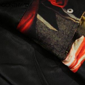 Image 5 - GONTHWID une allégorie de lancien et nouveau Testaments peinture impression coupe vent entraîneurs vestes Streetwear Hip Hop manteaux décontractés
