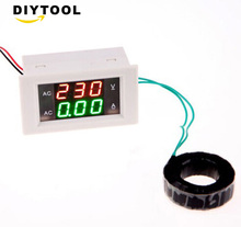 AC 100A 300V 110V 220V Led Digital AC Voltmeter Ammeter Current Meter Ampere Panel Meter Volt Amp Gauge three phase digital voltmeter ammeter digital ampere panel meter 96 96 led display combined meter