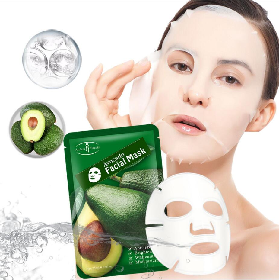 1PCS New Fruit Facial Mask Skin Care Avocado Anti-freckle Brightening Hydrating Whitening Face Mask