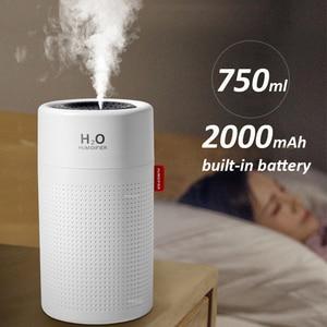 Image 4 - Umidificador de ar sem fio, umidificador de ar, difusor de aroma portátil usb, recarregável, óleo essencial, 2000mah