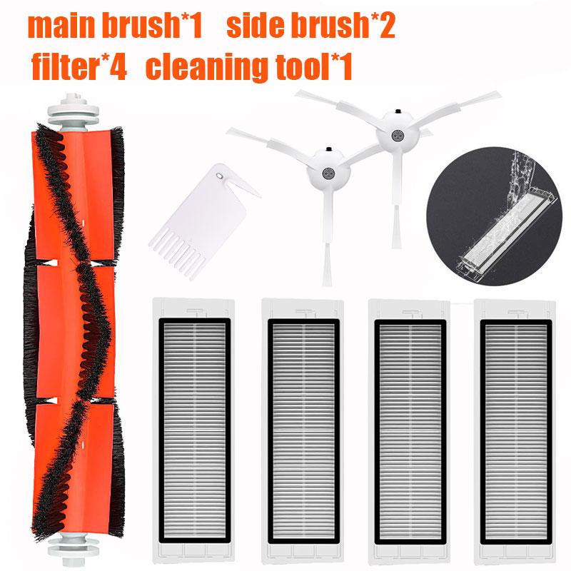4* HEPA Filter + 2 * Side Brush + 1* Main Brush Suitable For Xiaomi Vacuum 2 Roborock S50 Xiaomi Roborock Xiaomi Mi Robot