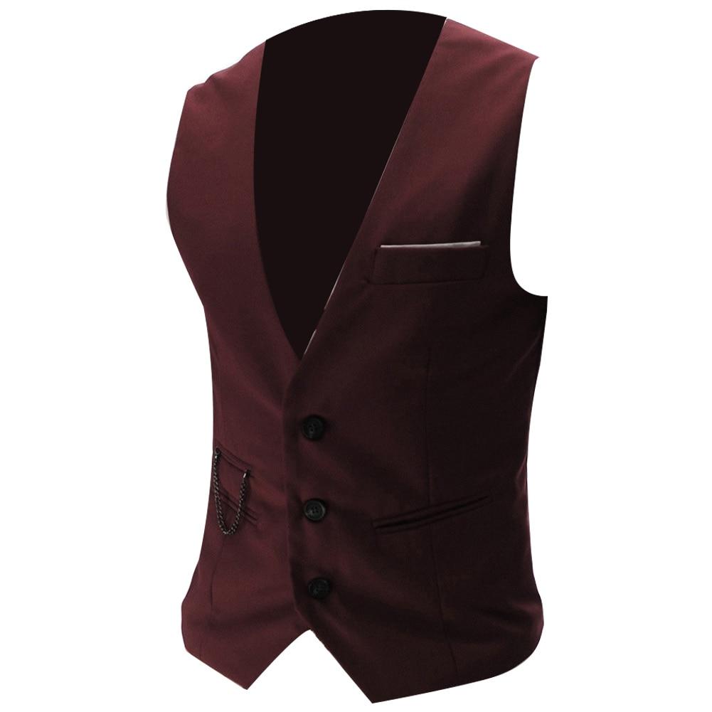 H90b888291af44282953a0154b0352f6bJ - 2020 New Arrival Casual Sleeveless Formal Business Jacket Dress Vests For Men Slim Fits Mens Suit Vest Male Waistcoat Homme