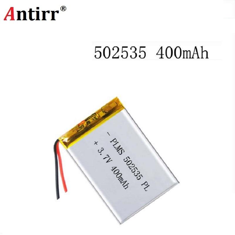 3.7V 400mAh 502535 Lithium Polymer Li-Po Li Ion Rechargeable Battery Cells For Mp3 MP4 MP5 GPS PSP Mobile Bluetooth Speaker
