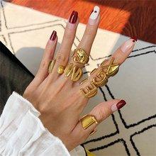 Bague ajustable EN 26 lettres pour femmes, Simple et exquise, doigt ouvert, initiales, nom, bijoux, cadeau de fête