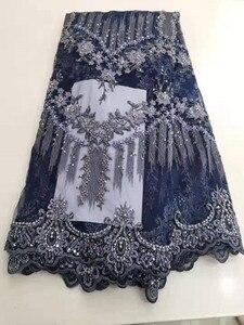 Image 4 - Robe lourde en broderies, perles, maille française, dentelle africaine, dentelle nigériane, tissu, robe de soirée, jupe, robe de soirée, tissu