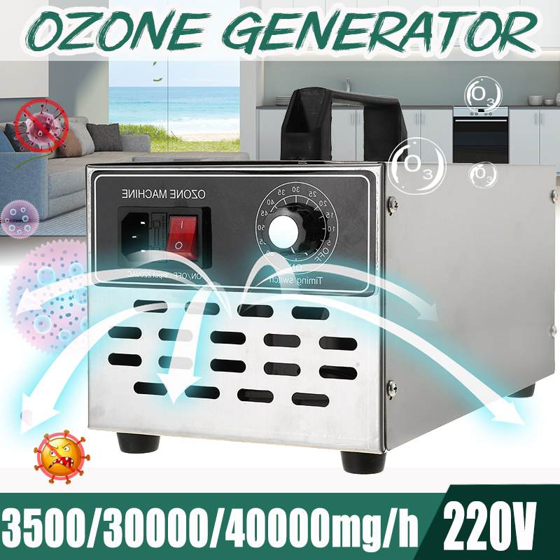 220/110V 40g/h 30g/h 3.5g/h O3 Ozone Generator Ozonator Machine Air Purifier Air Cleaner Deodorizer Sanitizer With Timing Switch