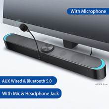 LED Barra De Sonido Bluetooth Speaker Soundbar Computer Speakers Sound Bar TV Desktop Laptop Home Theatre System Audio with Mic