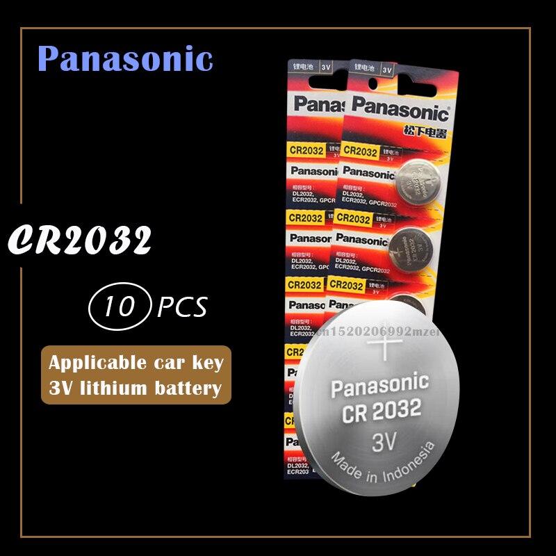10 шт. оригинальная Фирменная Новинка батарея для PANASONIC cr2032 3v кнопочные батареи для монет для часов компьютера cr 2032