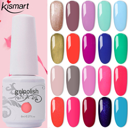 369 Colors 8ml Bottle Nail Gel Gelpolish UV/LED Nail Gel Polish Soak Off Gel Nail Polish Lacquer Base Top Coat Nail Art Varnish