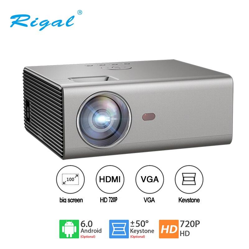 Rigal RD825 светодиодный проектор 2000 люмен 3,5 мм аудио 1280*720 пикселей HDMI USB Мини проектор домашний медиаплеер проектор