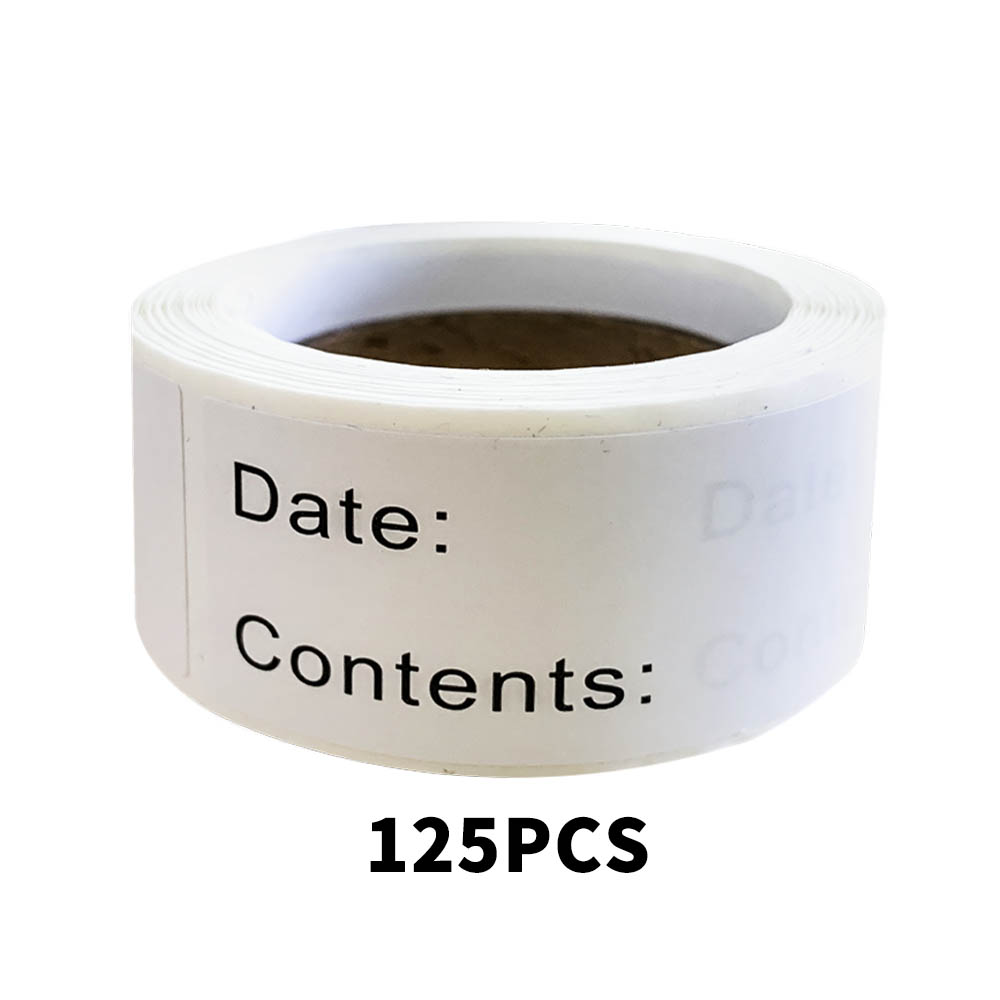 125 Pcs/Roll Self-Adhesive Removable Freezer Refrigerator Food Storage Paper Sticker Labels White Stickers Food Labels 1 X 3Inch
