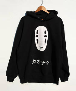 Sweatshirts No Face Men Hoodie Spirited Away Sweatshirt Anime Harajuku Unisex Black Tumblr Casual Jumper Grunge Tops
