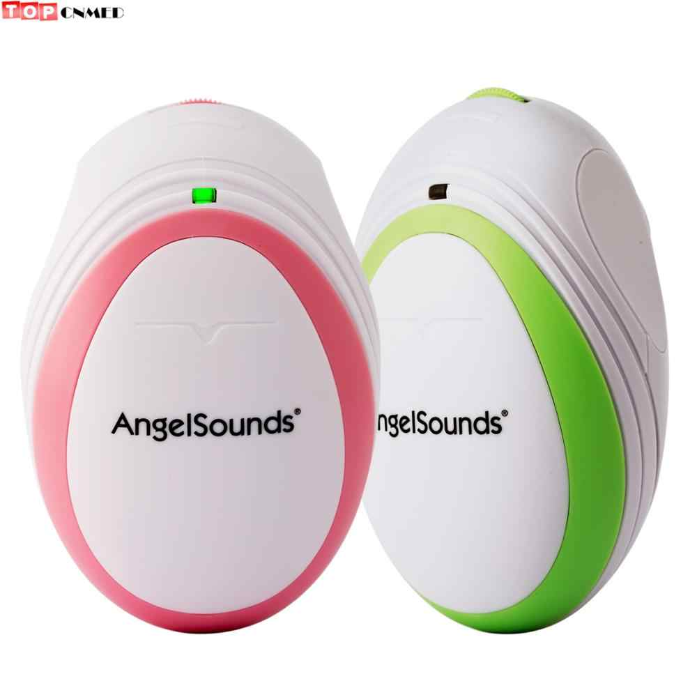 Portable Fetal Doppler Bayi Suara Angel Heart Beat Hamil Monitor Earphone Kabel USB + Earphone Merah Muda/Hijau Gel Opsional