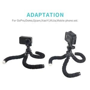 Image 5 - Rp mini flexível esponja polvo tripé para iphone xiaomi huawei smartphone tripé para câmera gopro acessório com clipe de telefone