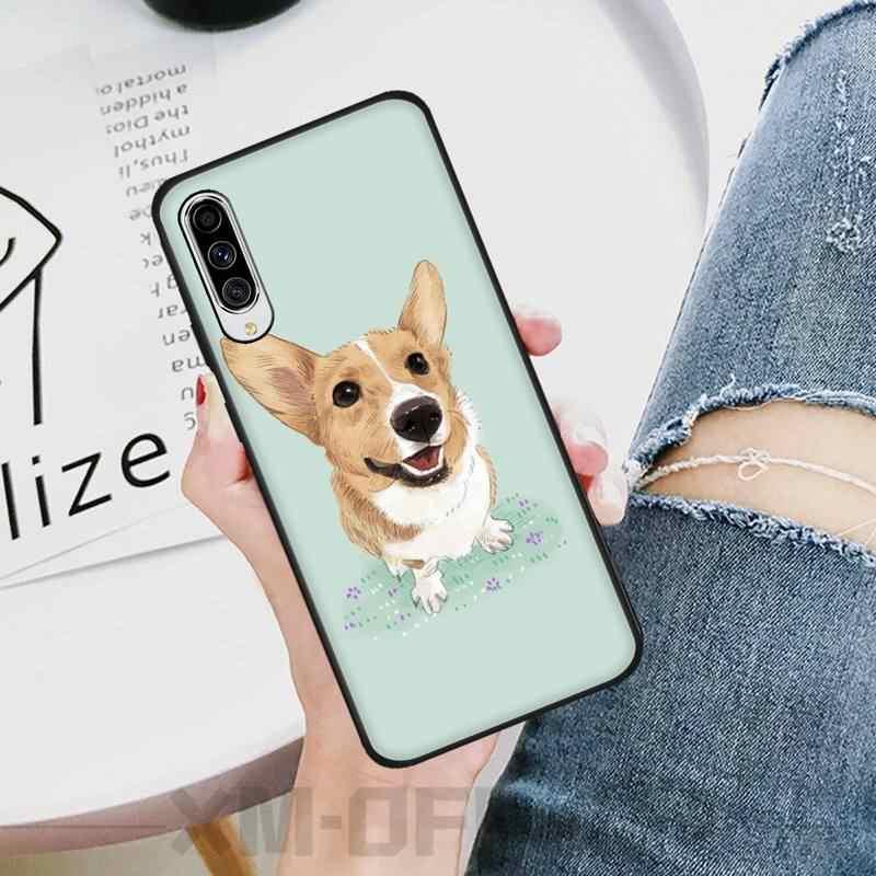Ljhydfcnb Kartun Yang Indah Anjing Hitam TPU Lembut Ponsel Case PENUTUP UNTUK Samsung A10 20 30 40 50 70 10S 20S 2 Core C8 A30S A50S A7 8 9