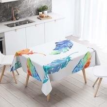 Скатерти прямоугольный декоративный стол 3d печать разноцветные