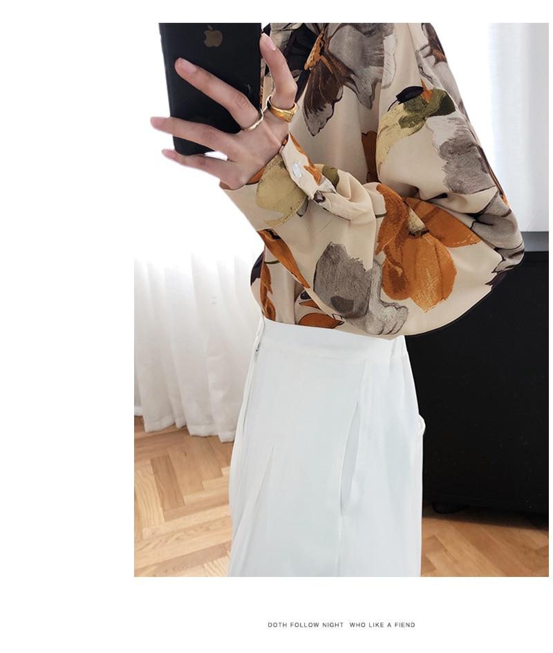 Oil Painting Printed Light Sunscreen Chiffon Shirt 8
