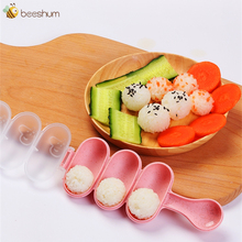 Beeshum Baby Rice Ball Molds Sushi Mold Making Tools Rice Spoon DIY Sushi Maker Kitchen Gadgets for Mom Feeding Accessories